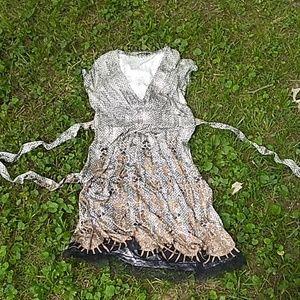 100%silk Elie tahari dress